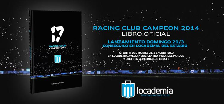 Racing lanza el libro oficial del Campeón